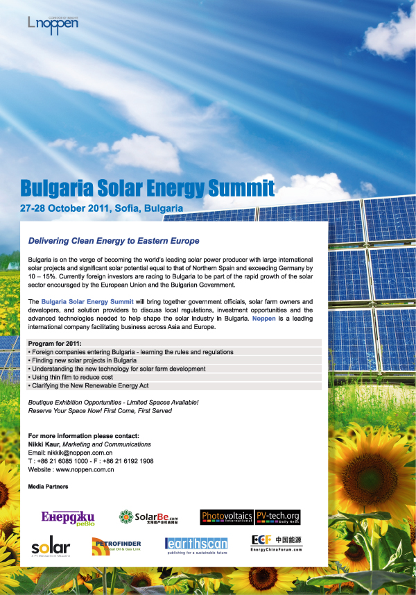 Bulgaria Solar Energy Summit
