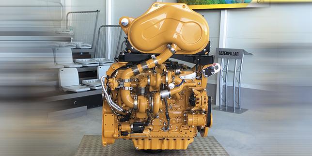 Новият двигател Cat® C4.4 генерира повече мощност и въртящ момент в компактни размери