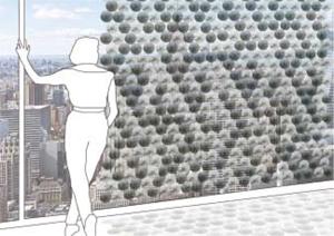 Интелигентни щори за стъклени фасади пестят енергия