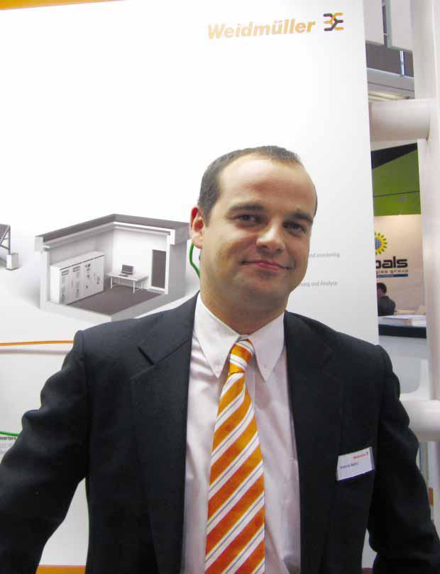 Интервю с Антонио Бетриу, мениджър маркетинг и приложение на направление Фотоволтаици във Weidmueller