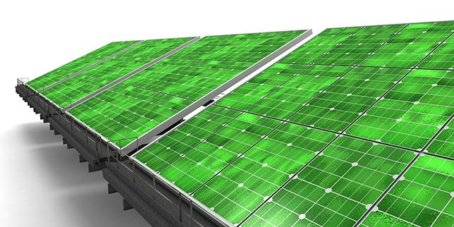 Наночастици придават зелен цвят на слънчевите панели
